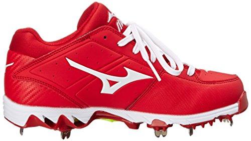 Mizuno Kvinna 9 Spik Swift Fyra Fasta Grad Metall Softball Cleat Röd / Vit