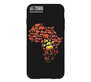 The Dark Continent iPhone 6 Plus Black Tough Phone Case - Design By Humans