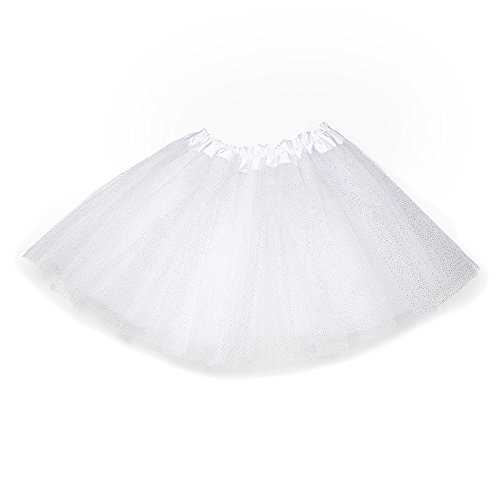 Child Tutu Light Up (Anleolife 12'' Birthday Tutu Skirt For Girls white))