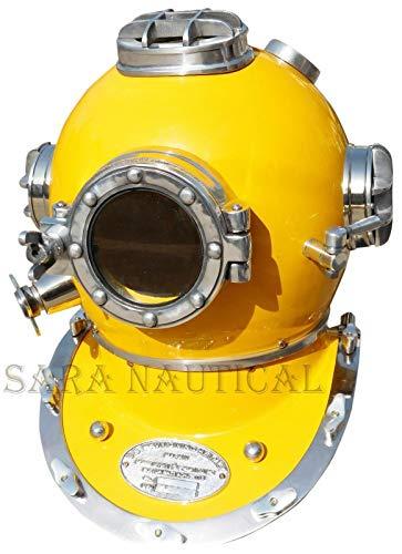 - Calvin Brass Diving Helmet Divers US Navy Mark V Antique Vintage Solid 18