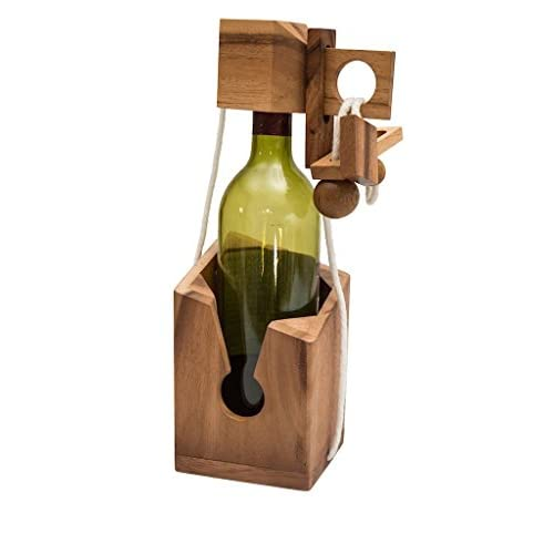 Accessoire de vin «Ne cassez pas la bouteille» - Puzzle en bois | Jouet | Puzzle casse-tête | Cadeaux et bouteille spéciale by TrendingTemple
