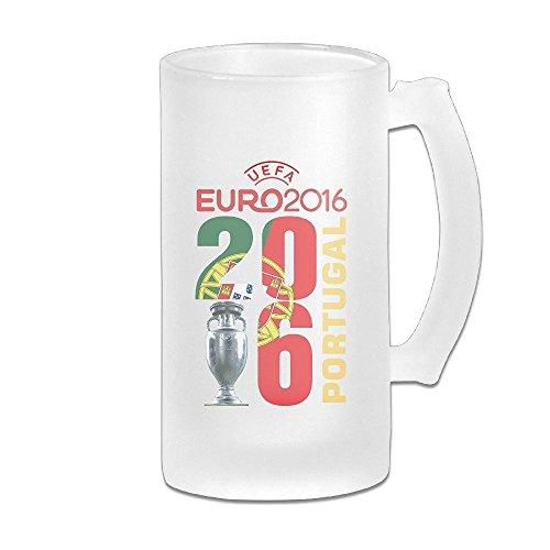 - Acosoy UEFA Euro 2016 Champion Portugal Scrub Beer Mugs/Beer Stein/Beer Tankard/Beer Glasses
