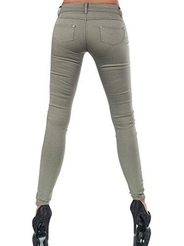 Jeans Femme Skinny Gris Uni Diva Jeans U1HqwHAP