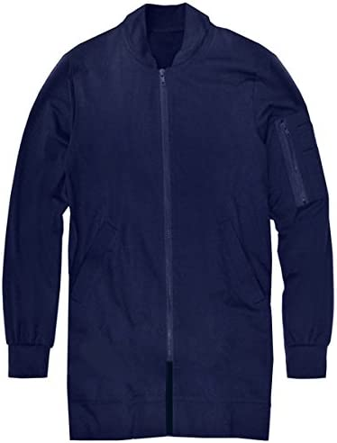 スワンユニオン swanunion MA-1 ジャケット ロング丈 メンズ 薄手 春 夏 大きいサイズ ブラック 黒 f600-men-va