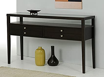 Amazoncom Metro Shop Aristo Halifax Brown Console Table Kitchen