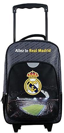 Real Madrid - Mochila con Ruedas para niños, Azul, 40 cm