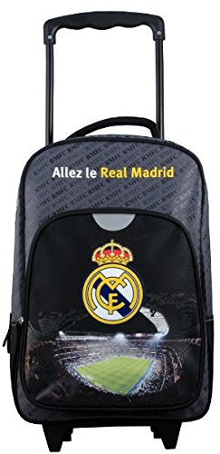 Real Madrid - Mochila con Ruedas para niños, Azul, 40 cm: Amazon.es: Deportes y aire libre