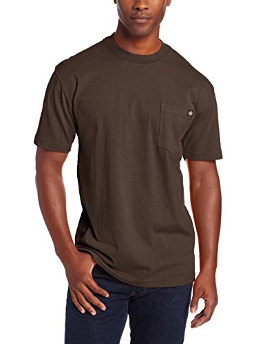 Dickie's Men's Heavyweight Crew Neck Short Sleeve Tee Big-tall,Chocolate,2X-Large Tall