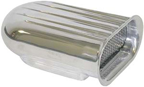 Racing Power Company R5246 Polished Aluminum Finned Scoop with Washable Element