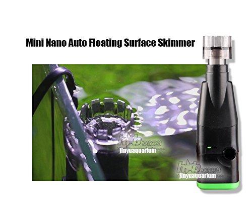 Nano Tank Skimmer (110V 220V Surface Oil film Skimmer mini nano auto float on water aquarium water plant fish tank landscape)