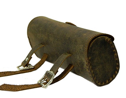 Herte Genuine Leather Bicycle Saddle Bag Utility Tool Bag Brown by Herte (Image #2)