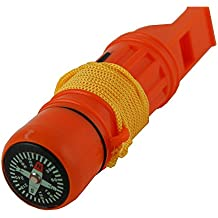 5 in 1 Survival Whistle, Emergency Zone Brand, 1 and 3 Packs Available