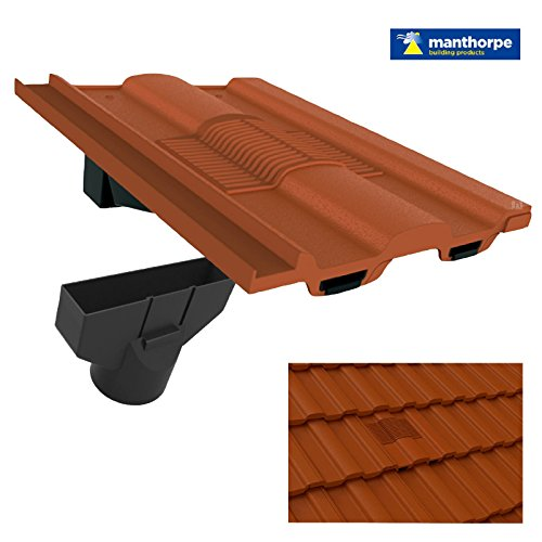 Terra Cotta Roof - Terracotta Castellated Roof Tile Vent & Adapter/Marley Ludlow Redland Sandtoft