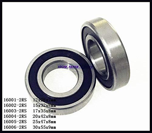 16006-2RS Rubber Sealed Ball Miniature Bearing Brand New - Diameter: 16004-2RS x2pcs Ochoos 1-4pcs//Lot 16001-2RS 16005-2RS 16002-2RS 16003-2RS 16004-2RS
