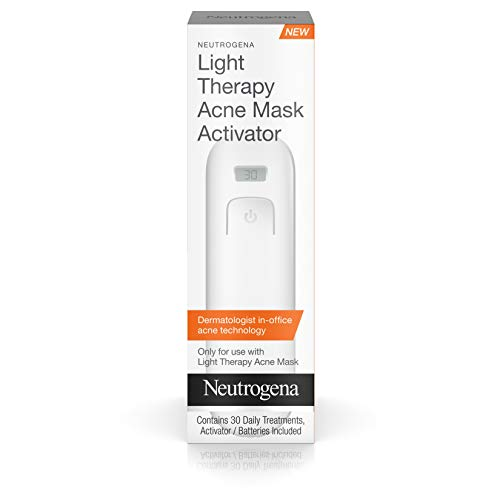 Neutrogena Acne Clearing Light Therapy Acne Treatment Face Mask Activator for 30 Sessions, 1 activator