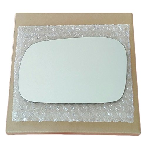 Mirror Glass and Adhesive | 06-11 Honda Civic 2 Door Coupe Driver Left Side Replacement - FITS COUPE MODEL ONLY