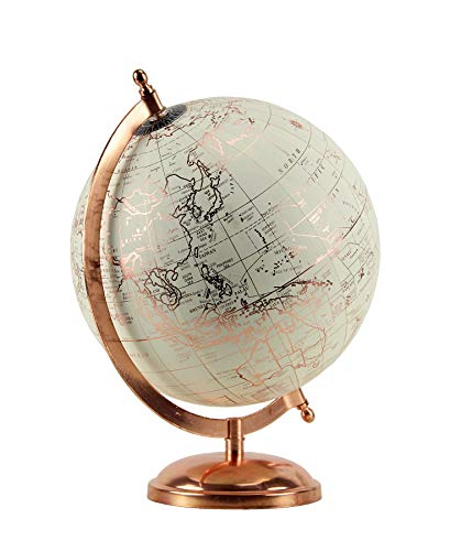 Habitat Ivory and Rose Gold Globe Tabletop Decor, Neutral