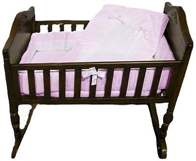 Baby Doll Bedding Royal Cradle Bedding Set, Pink