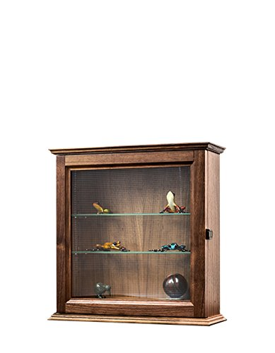 (Decorative Curio Wall Cabinet-Walnut Hardwood *Made in the USA*)