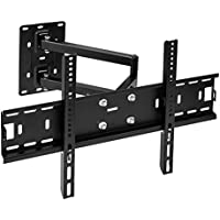Vemount Corner TV Wall Mount Bracket Tilt Swivel Full Motion Articulating Arm for most 26-55 Inch LED, LCD Plasma Smart TV, VESA up to 500x400mm and 99 LBS, with Level Adjustment