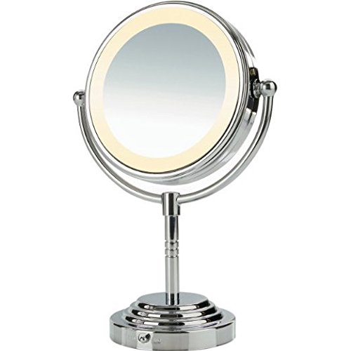 Nativis-Portable-360-Degrees-Rotating-Adjustable-Double-Sided-3x-Magnifying-Mirror-with-Light