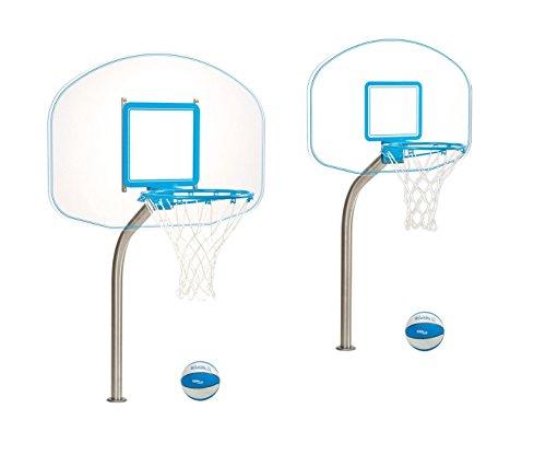 Dunnrite Deck Mounted Clear Hoop Pool Basketball Hoop – DiZiSports Store