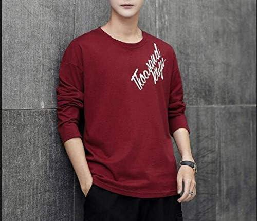 Camisa de Fondo de Manga Larga de Moda Coreana para Hombres, Marea de Camisa de Manga Larga Casual de Cuello Redondo Salvaje para Hombres Jóvenes, Good dress, rojo, SG: Amazon.es: Bricolaje y