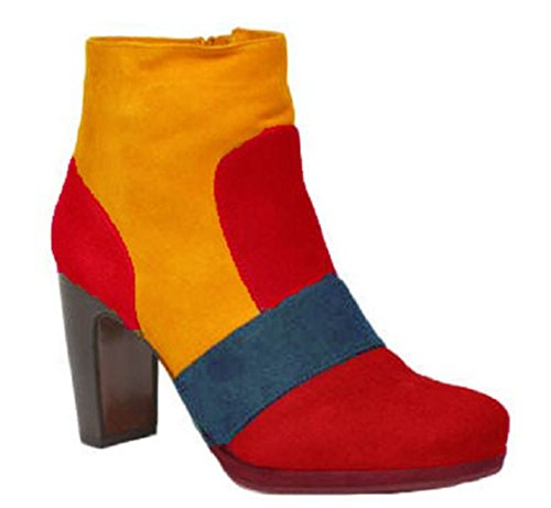 Suede 33au Model 11sunshop Boots Design 44 ARRIETTE HGilliane Customized EU Ankle only Bordeaux Colorful by vqqw5xFgT