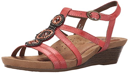 New Balance Cobb Hill Womens Hannah CH Wedge Sandal, Coral, 37.5 B(M) EU/5 B(M) UK