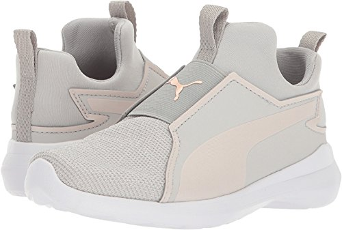 PUMA Girls' Rebel Mid Gleam Sneaker, Gray Violet-Pearl, 2.5 M US Little (Puma Girls Sneakers)