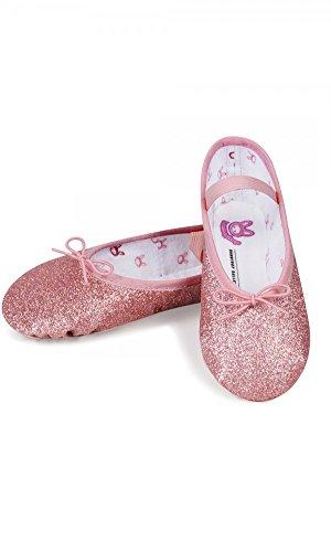 Bloch , Mädchen Ballett  GLITTER ROSE PINK kids 13.5