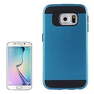 Texture Brushed PC TPU Case Cover Armor Combination Carcasa para Samsung Galaxy S6 Edge G925/(Blue)