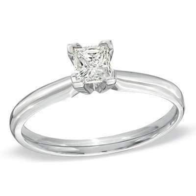 0.38 Ct Princess Diamond - 8