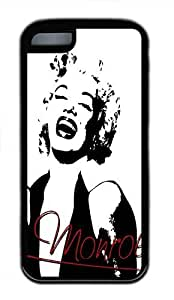 Hot iPhone 5C Customized Unique Print Design Marilyn Monroe New Fashion Tpu Black iPhone 5C Cases