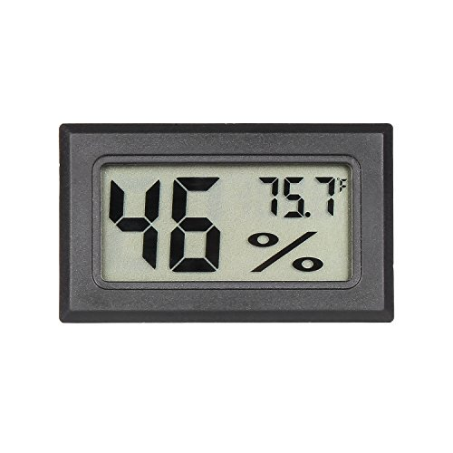 Qooltek Mini Digital Hygrometer Thermometer Indoor Humidity Monitor with Temperature Humidity Gauge Meter for Cars Incubators and Brooders Climb Pet (Fahrenheit)