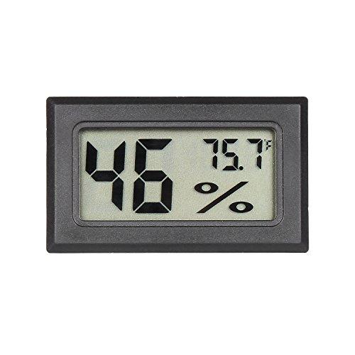 Qooltek Mini Digital Hygrometer Thermometer Indoor Humidity Monitor with Temperature Humidity Gauge Meter for Cars Incubators and Brooders Climb Pet (Fahrenheit) ()