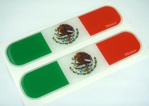 Mexico Mexican Flag Domed Decal Emblem Car Flexible Sticker 5