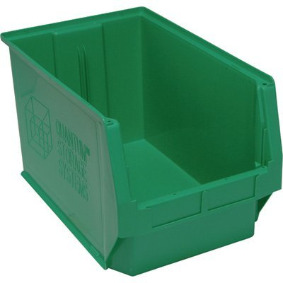Quantum Storage Magnum Bin - 3-Pack, 19 3/4in.L x 12 3/8in.W x 11 7/8in.H, Green, Model# QMS533GN