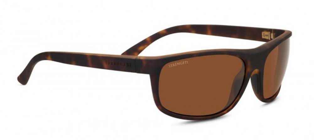 Serengeti Alessio Sunglasses, Dark Tortoise Brown by Serengeti