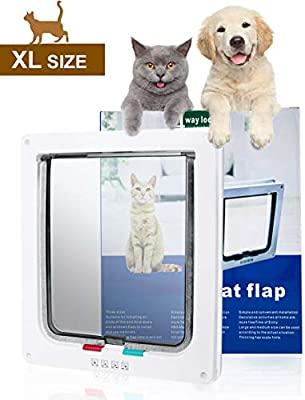 Shoze Cat Flap Smart Lock Small Dog And Cat Flap Magnetic Door White