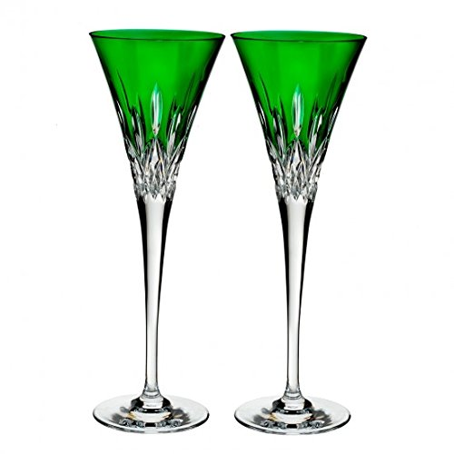 Price comparison product image Waterford Lismore Pops Set of 2 Flutes Emerald