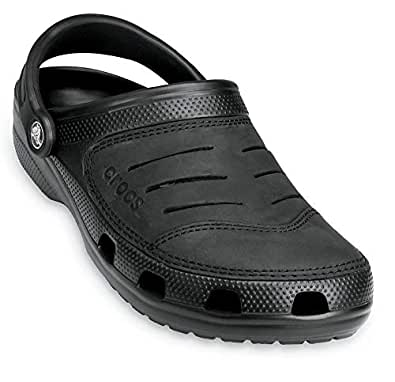 Crocs Men's Bogota Clog, Black/Black, 7 US Men