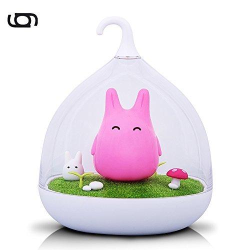 Gary&Ghost LED Stimmungslicht Totorosform Rosa Nachtlicht 2 Helligkeitsstufen Dimmbar Touchfeldbedienung Tischleuchte für Nachttisch Kinder