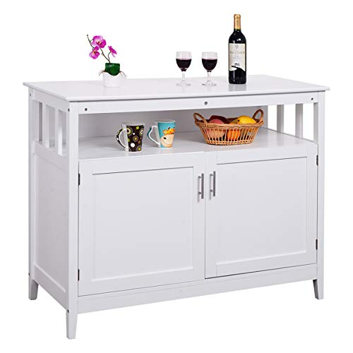 Sideboard Plan - Costzon Kitchen Storage Sideboard Dining Buffet Server Cabinet Cupboard with Shelf (White)