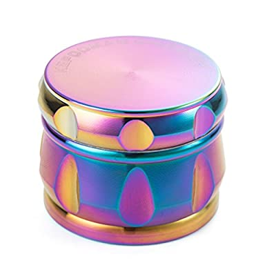"Colourful 4 Pieces Tobacco Spice Herb Grinder - By Kepooman (2.5"", Rainbow metal) from Kepooman"