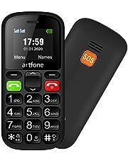 artfone CS181 Mobiele Telefoon voor Senioren Zonder Contract   Mobiele Telefoon met Grote Toetsen   Dual SIM Mobiele Telefoon met Alarmknop   GSM met Grote Toetsen voor Senioren   GSM met Pensioen   Inclusief Lader