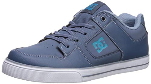 DC Pure Elastic Skate Shoe, Blue, 5 M US Big Kid ()