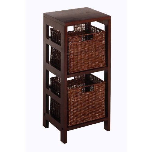 Luxury Home Leo Storage Shelf with Two Small Baskets