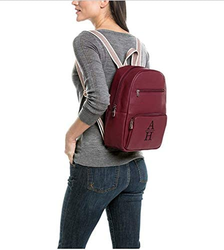 in Deep Merlot Pebble Thirty One Boutique Backpack No Monogram 9138