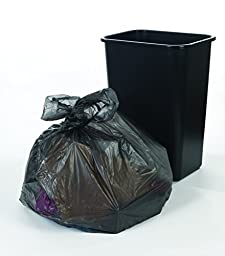 Brighton Professional Linear Low-Density Trash Bags, Black, 60 Gallon, 100 Bags/Box